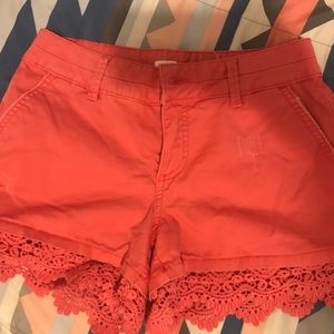 Maurice's call real pink lace shorts